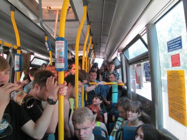 Автобусы на Рок над Волгой 2013
