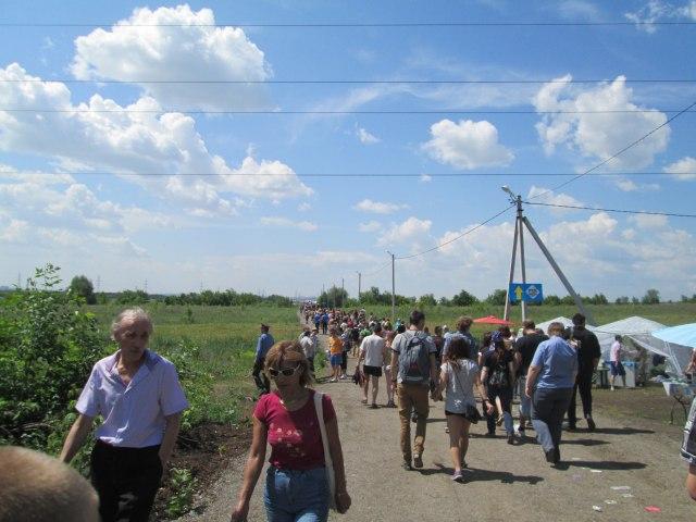 Дорога от места высадки до фестиваля