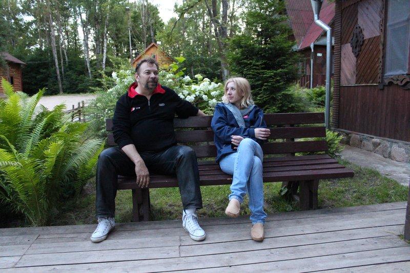 А Мотопапа тем временем очаровывал Белорусских маркетологов