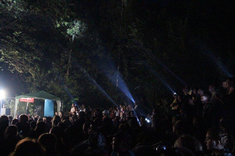 на ночных концертах была очень красивая подсветка от зрителей