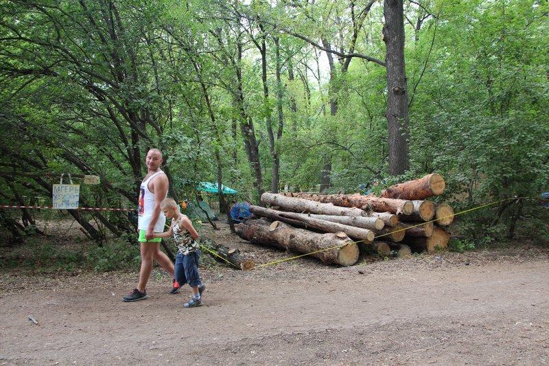 В среду привезли дрова