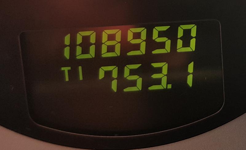 На одометре 108 950 километров - засечем, сколько мы в итоге проедем