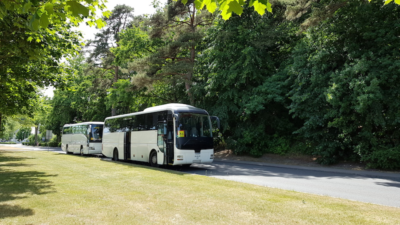 Туристические автобусы с российскими номерами