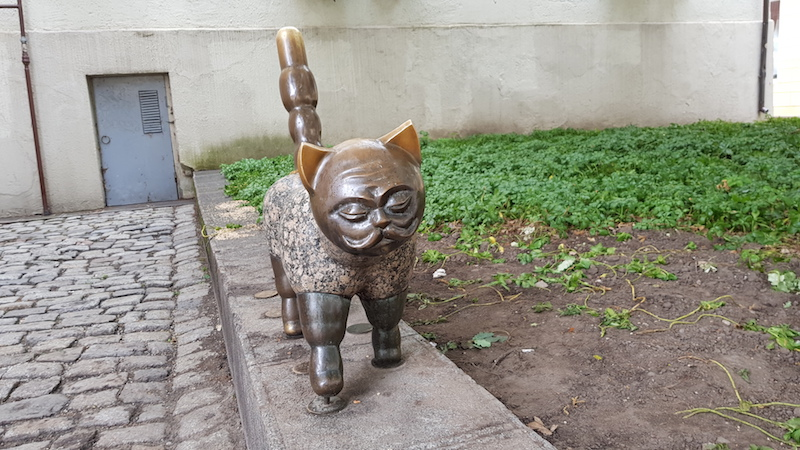 Кот Клайпедус, местный туристический арт-объект