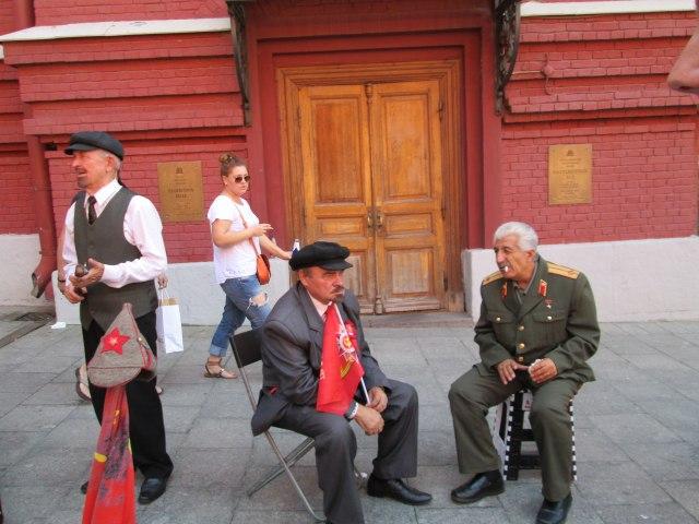 Ленины и Сталин на Красной площади