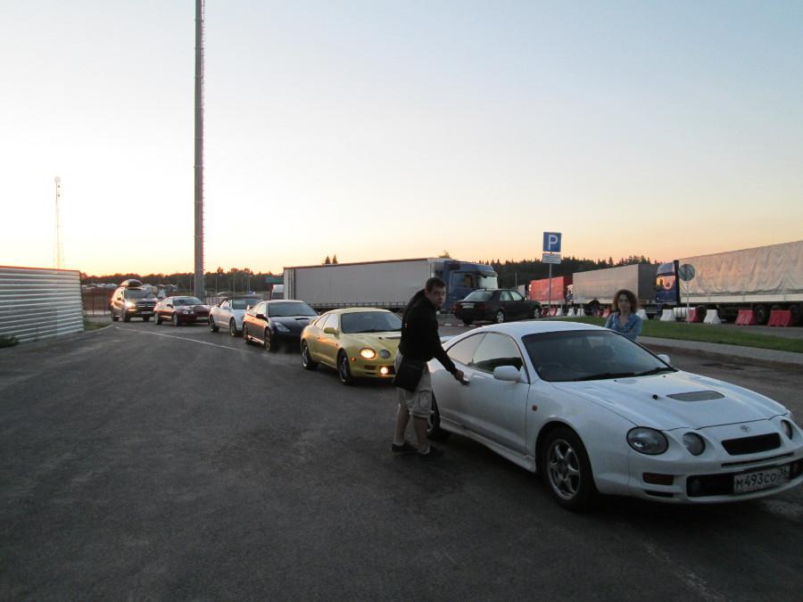 Наше участие в PECM 2013 началось в 6-15 утра на Белорусско-Латвийской границе