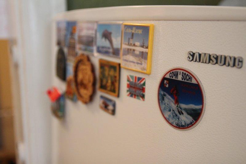 холодильник с магнитами