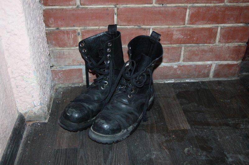 Кто-то из местных забыл ботинки