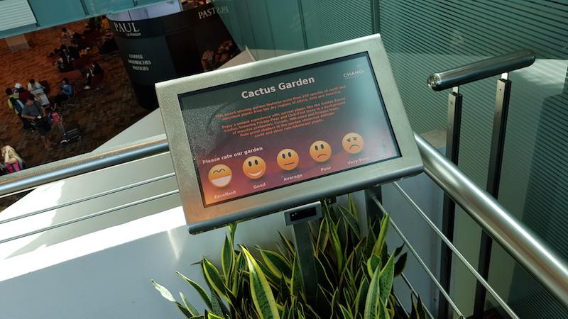 Каждая инсталляция или локация в аэропорту оценивается, оценки собираются автоматом